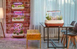four hydroponics led lights at home