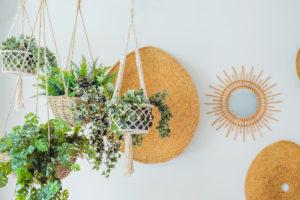 stacked basket planter