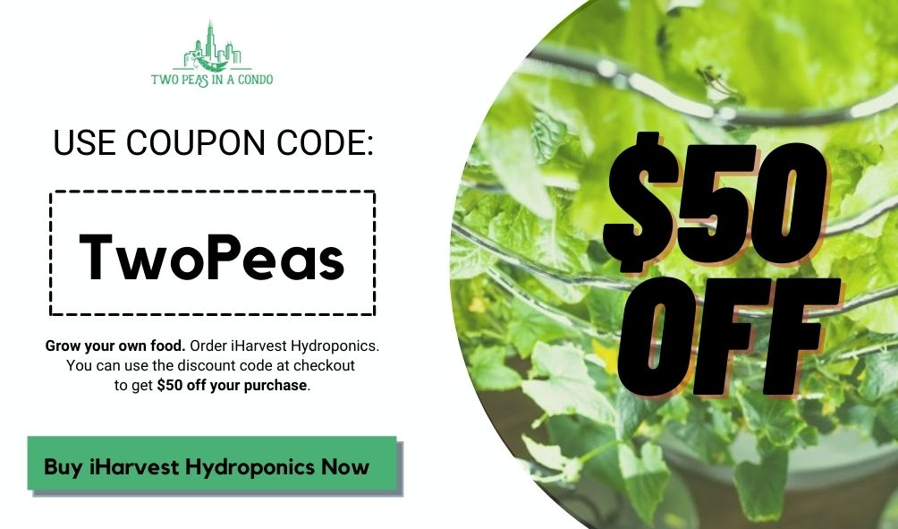 TwoPeas coupon code for iHarvest Hydroponics