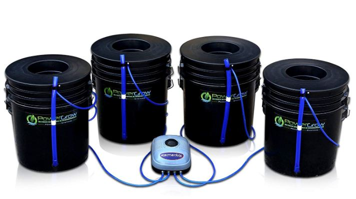 4 black buckets powergrow hydroponics