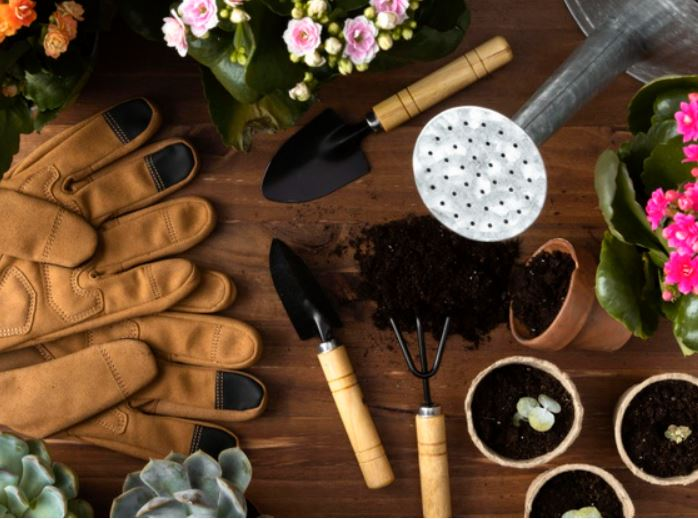 pots small shovel hand fork gloves soil pots indoor gardening tools