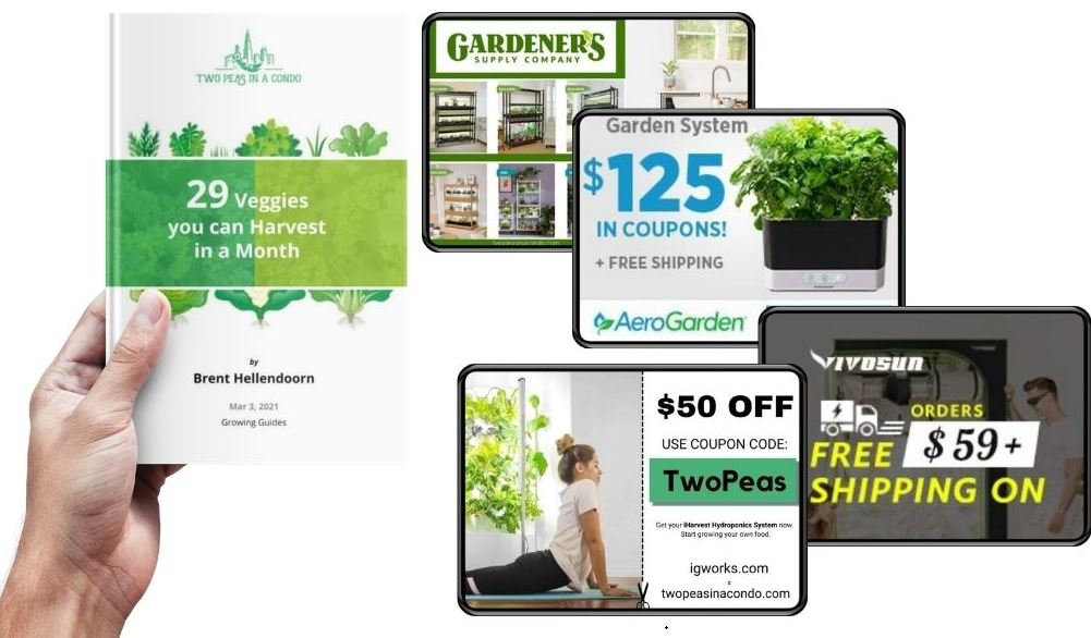 gardening ebook and hydroponics coupon